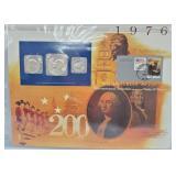 1976 US Mint UNC Set & Postal Comm Page