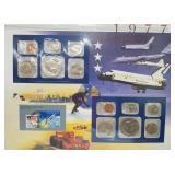 1977 US Mint UNC Sets & Postal Comm Page