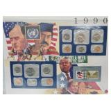 1990 US Mint UNC Sets & Postal Comm Page