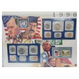 1990 US Mint UNC Sets & Postal Comm Page