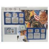 1991 US Mint UNC Sets & Postal Comm Page