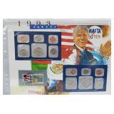 1993 US Mint UNC Sets & Postal Comm Page