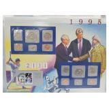 1995 US Mint UNC Sets & Postal Comm Page