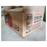 Full New Old Zink Lid Ball Jars in Box