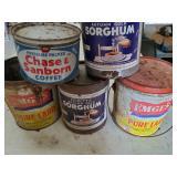 Lard, Sorghum, Coffee Cans