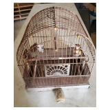 Bird Cage with Glass Feeder
