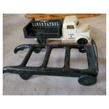 Pressed Steel Hand Truck Dolly toy, Lionel Delivery Truck