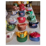 Trucker Farm Hats of Years Past Seed, Feed, Tractor John Deere, Case. Fertilizer