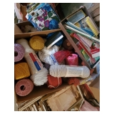 Skeins, Ball Yarn, Embroidery, Boxes Full