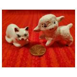 Miniature Cat, Sheep Hand Ceramic