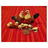 Miniature Chickens Hand made ceramic