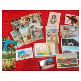 Antique, Vintage Post Cards. Stamps