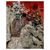 Vintage Aluminum Christmas Garland, Dubl-Glo Crinkle Balls