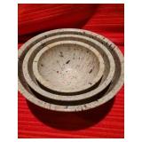 Brookpark Confetti Nesting Mixing Bowls, Vintage Melamine