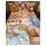 Hand Stitched Quilt, Pellow, Comforter & Bed