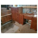 Waterford Bed, Chest of Drawers, Vanity & Mirror