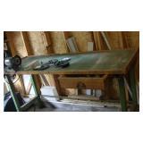 """Work Bench w Bench Grinder 72""""w 26""""d 36-1/2""""t"""