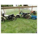 3 Motor Cycles Yamaha Suzuki Honda & Parts