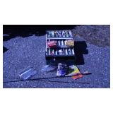 Tackle w Lures Fishing Line Advocater Rod & Reel