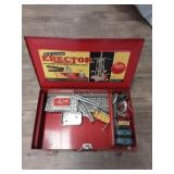 Vintage Erector Set in Original Metal Box