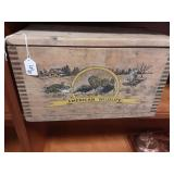 Vintage Wooden Ammo Box