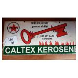 Vintage metal Caltex Kerosene Advertising Sign