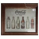 Vintage Coca Cola Framed Photo