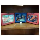 Lot of 3 Vintage Lunch Boxes