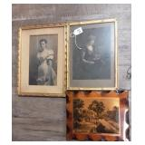 Lot of 3 Vintage Pictures in Frames
