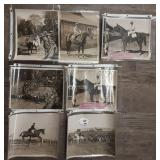 Lot of  7 B&W Horse Photos, 8x10