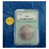 eautiful US 1883-S Graded Silver Dollar