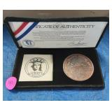 1986 Statue of Liberty Coin, with papers