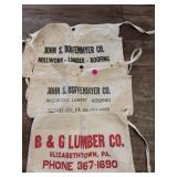 Lot of 3 Vintage Carpenter Bags