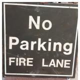 "Vintage ""Fire Lane"" No Parking Sign"