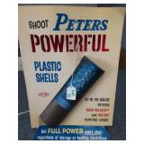 Shoot Peters Plastic Shells Advertising elec. sign