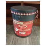 Vintage 50lb Kraft Veg. Shortening