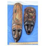 2 Hand Carved Masks