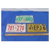 3 - Canadian Licence Plates