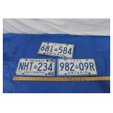 3 - 70s Ont Licence Plates