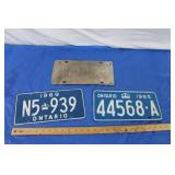 3 - 60s Licence Plates