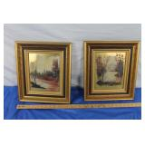 2 Original Oil on Brass Paintings