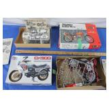 2 Vintage Motorcycle Models