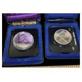 1871-1971 B.C Silver Dollar &  1975 Dollar Coins