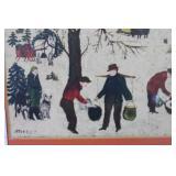 Folk Art Sugaring Off Print