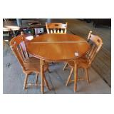 Maple Drop Leaf Table & 3 Chairs