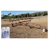 "Outdoors  96""W X 242"" LONG IRRIGATION PIPE TRAILER"
