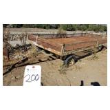 "Outdoors  93""W X 250"" LONG WAGON TRAILER . 200"