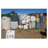 Outdoors  ASSORTED POLY TANKS, TOTES AND BASKET CR