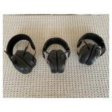 Noise cancelling headsets (3 pairs)