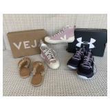 Shoes: Veja, Under Armour; Joie a la Plage sandals